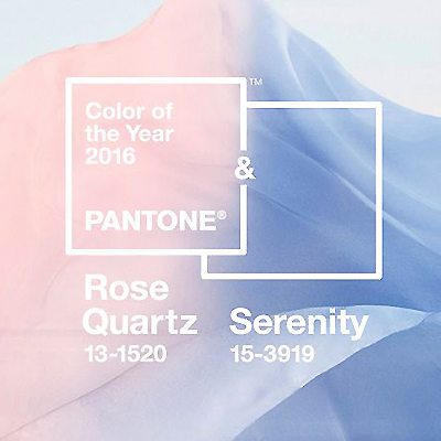 Meet the Two Pantone Colors of the Year: Rose Quartz & Serenity