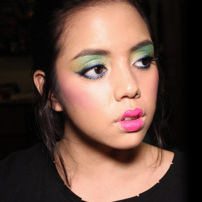 Halloween How-To: Effie Trinket's Multicolor Makeup