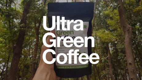 Banner  ultra green coffee