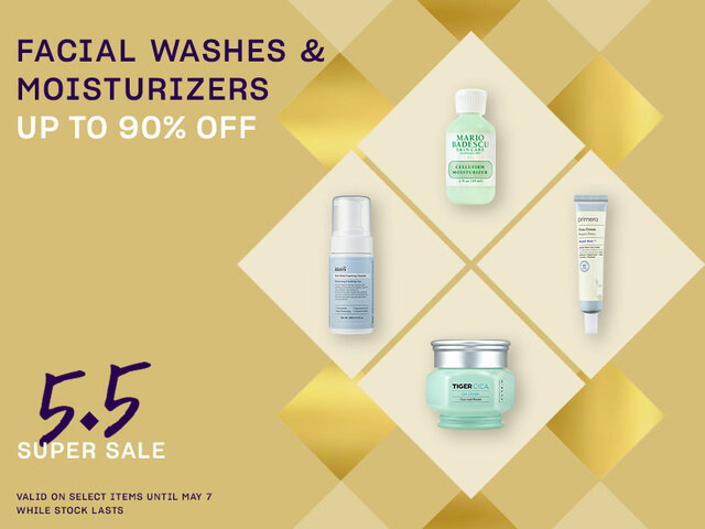 Mobile 5.5 pocket events facial washes moisturizers on sale