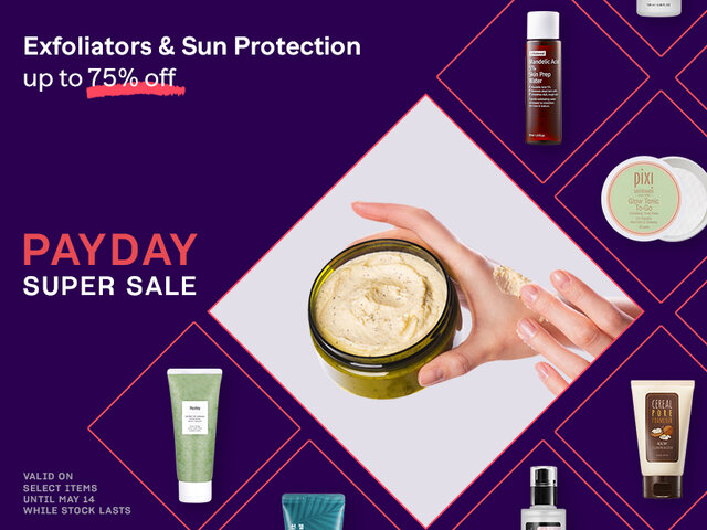 Mobile exfoliators sun protection