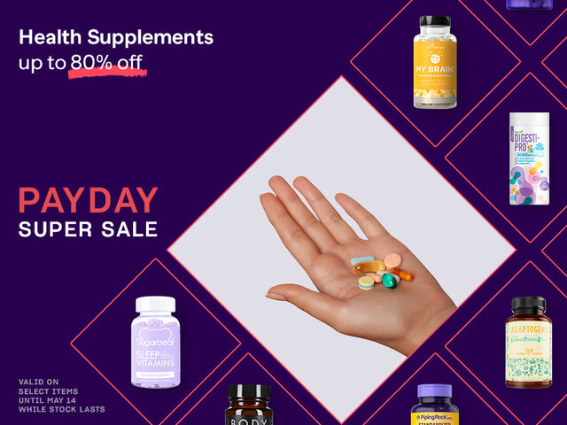 Mobile payday sale taxons health supplements