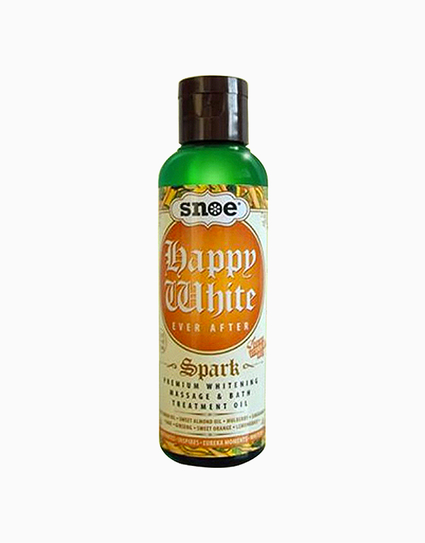 Happy White Ever After Spark Whitening Massage & Bath Treatment Oil by Snoe Beauty