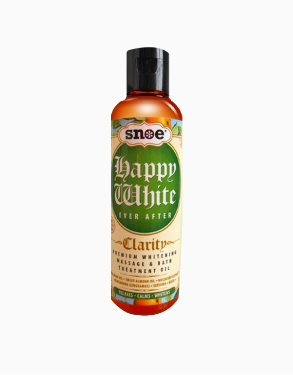 Happy White Ever After Clarity Whitening Massage & Bath Treatment Oil by Snoe Beauty