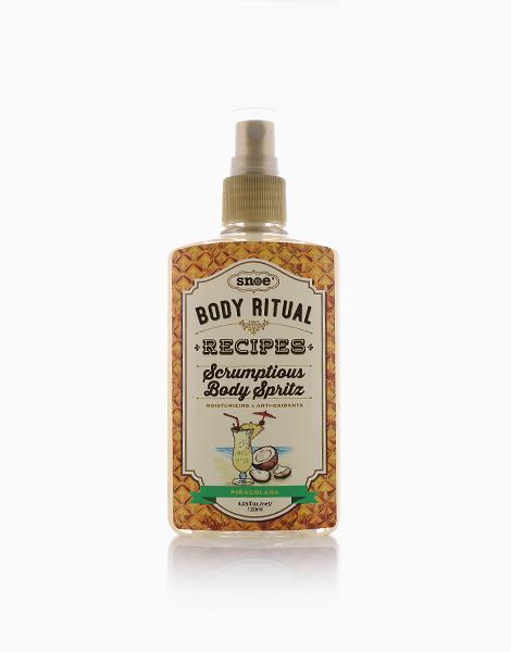 Body Ritual Recipes Scrumptious Body Spritz in Pina Colada by Snoe Beauty