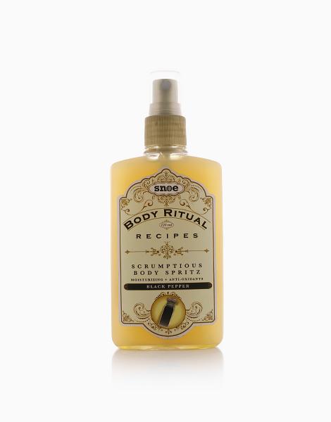 Body Ritual Recipes Scrumptious Body Spritz in Black Pepper by Snoe Beauty