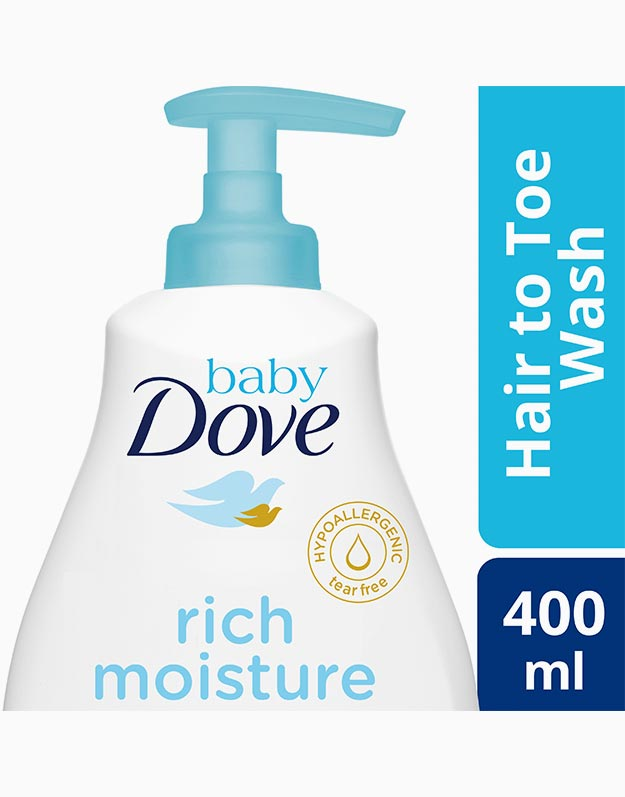 Baby Dove Hair to Toe Baby Wash Rich Moisture 400ml by Baby Dove
