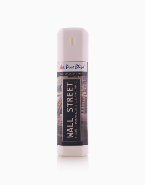 Car Solution Spray (45ml) by Pure Bliss   Wall Street (Scent: Woody)