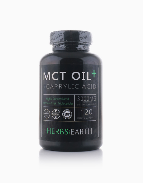 MCT Oil Capsules Caprylic Acid (3000mg) by Herbs of the Earth