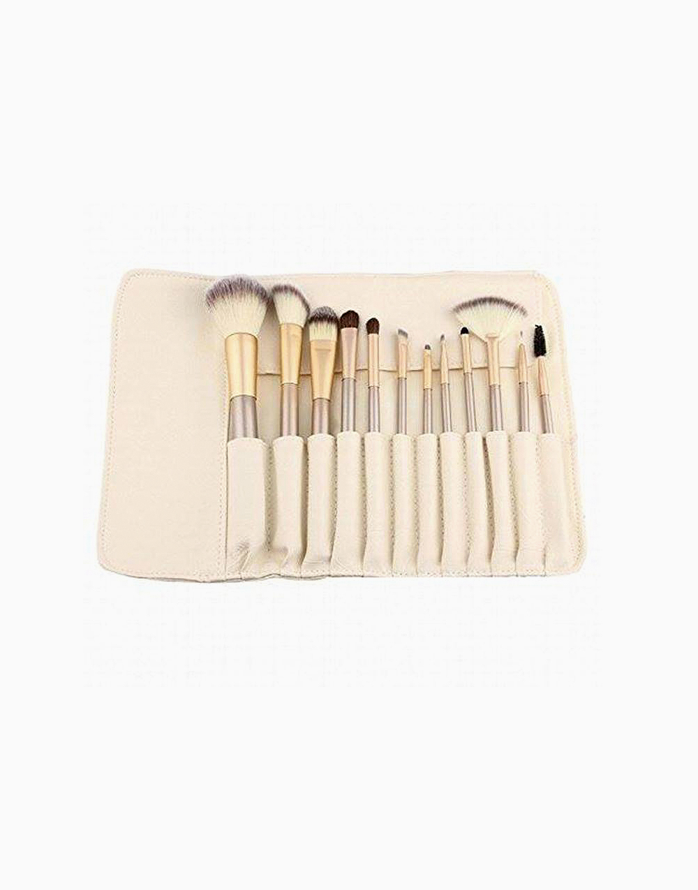 12-Piece Makeup Brush Set with Cream Case by Brush Works