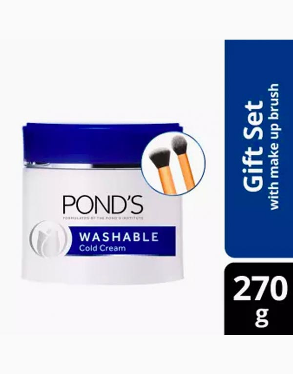 Pond's Washable Cold Cream 270g with FREE Makeup Brushes by Pond's