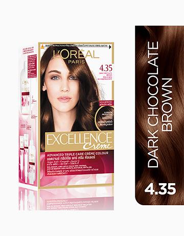 L'Oreal Paris Excellence Creme by L'Oréal Paris | No.4.35 Dark Chocolate Brown