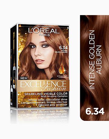 L'Oreal Paris Excellence Fashion by L'Oréal Paris   No.6.34 Intense Golden Auburn