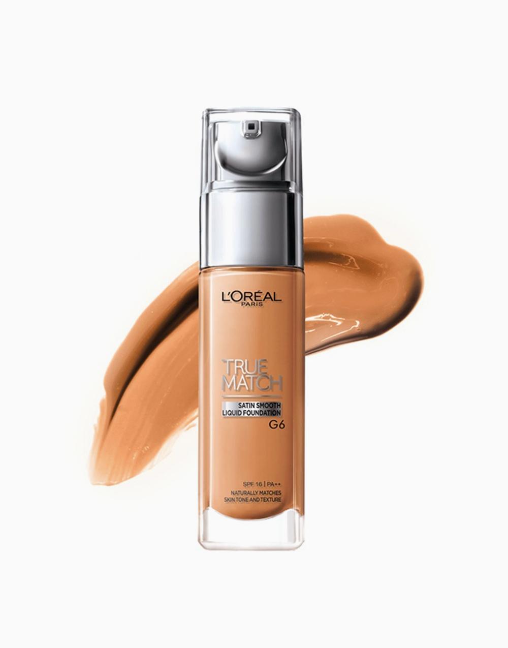 True Match Natural Finish Liquid Foundation by L'Oréal Paris   G6 Gold Sand