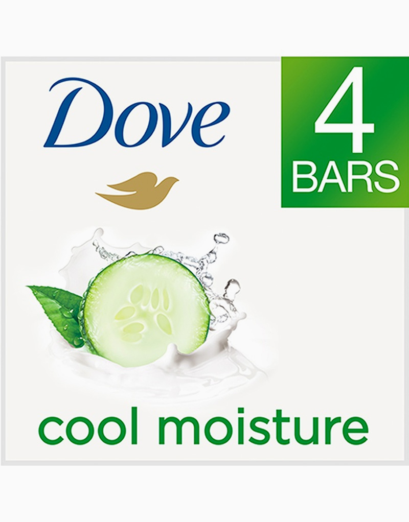 Dove Go Fresh Beauty Bar Cool Moisture (4 Bars) by Dove