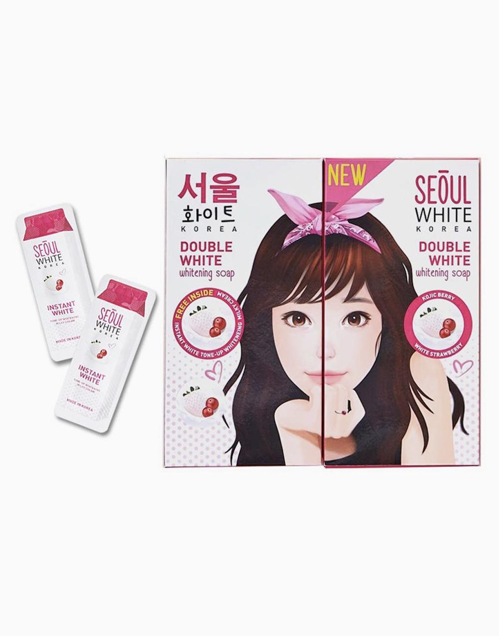 6x90g Whitening Soap FREE 2 sachets Tone-Up Cream by Seoul White Korea