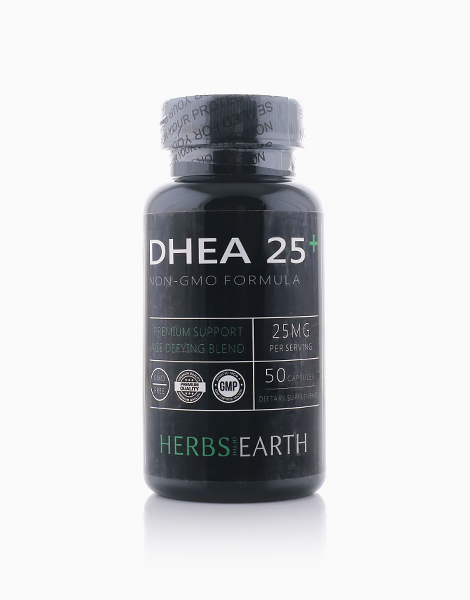 DHEA 25mg Micronized & Bioavailable DHEA (50 Non-GMO Vegan Capsules) by Herbs of the Earth