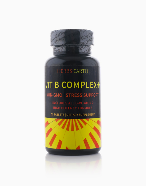 B Complex + (50 Tablets) by Herbs of the Earth