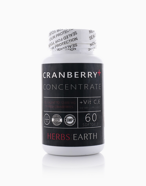Cranberry+ 3x Concentrate (60 Softgels) by Herbs of the Earth
