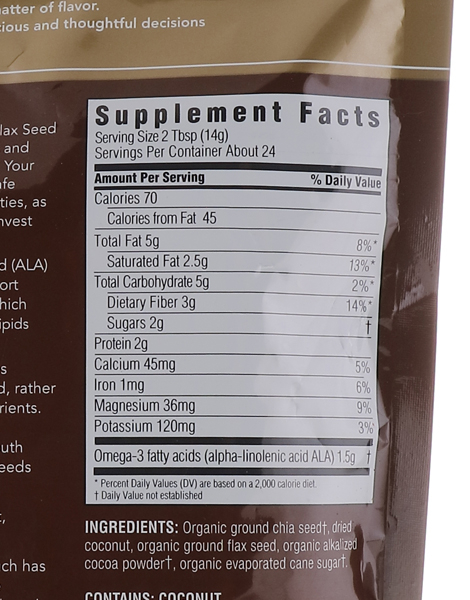 Decadent Blend Chia & Flaxseed With Coconut & Cocoa (12oz) by Spectrum