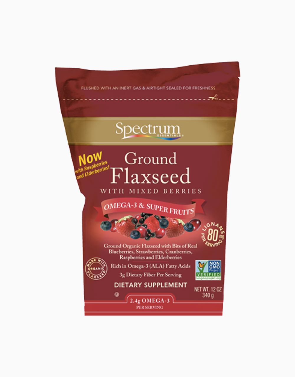 Ground Flaxseed With Mixed Berries (12oz) by Spectrum