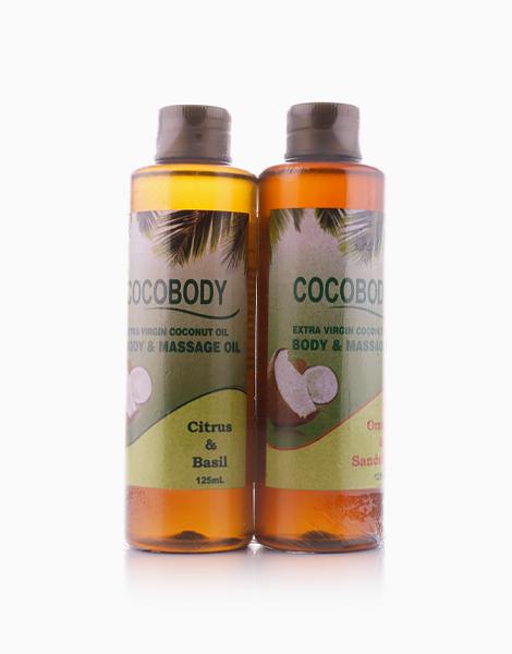 Body & Massage Oil Bundle: Citrus Basil & Orange Sandalwood Scents by Cocobody