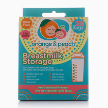 Breastmilk Storage Bags by Orange and Peach