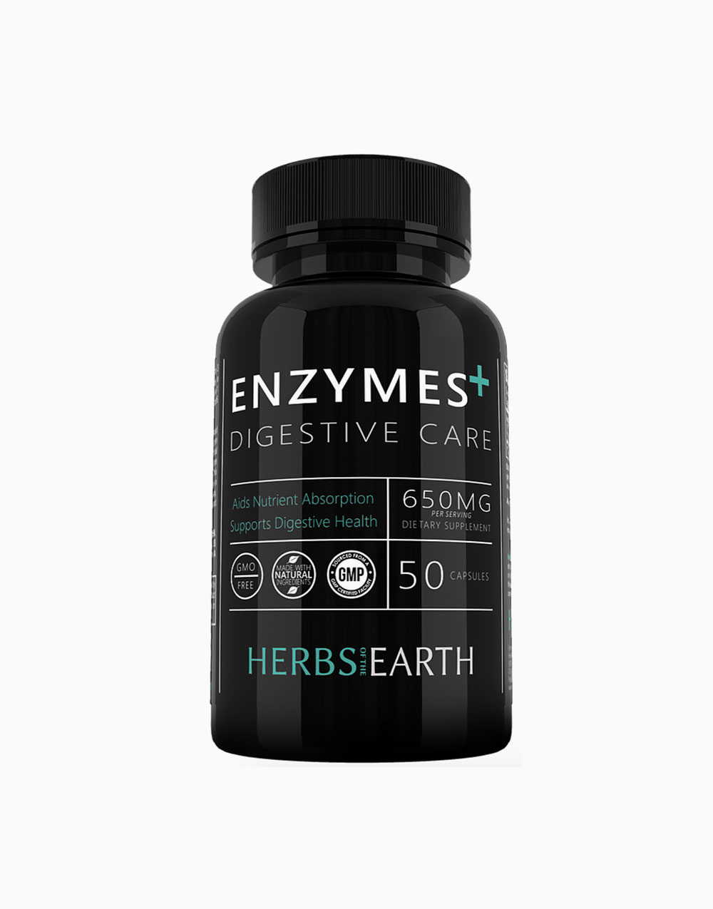 Premium Digestive Enzymes+ Gut Care (50 Capsules) by Herbs of the Earth