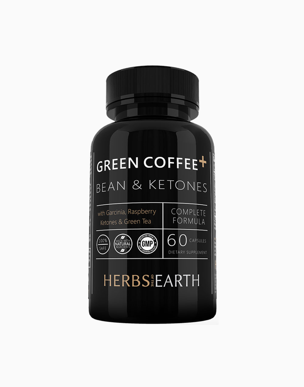 Green Coffee+: 4-in-1 Green Coffee Bean (800mg, 60 capsules) by Herbs of the Earth