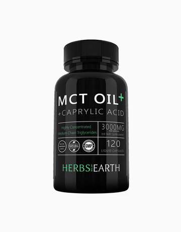 MCT Oil Capsules Caprylic Acid by Herbs of the Earth