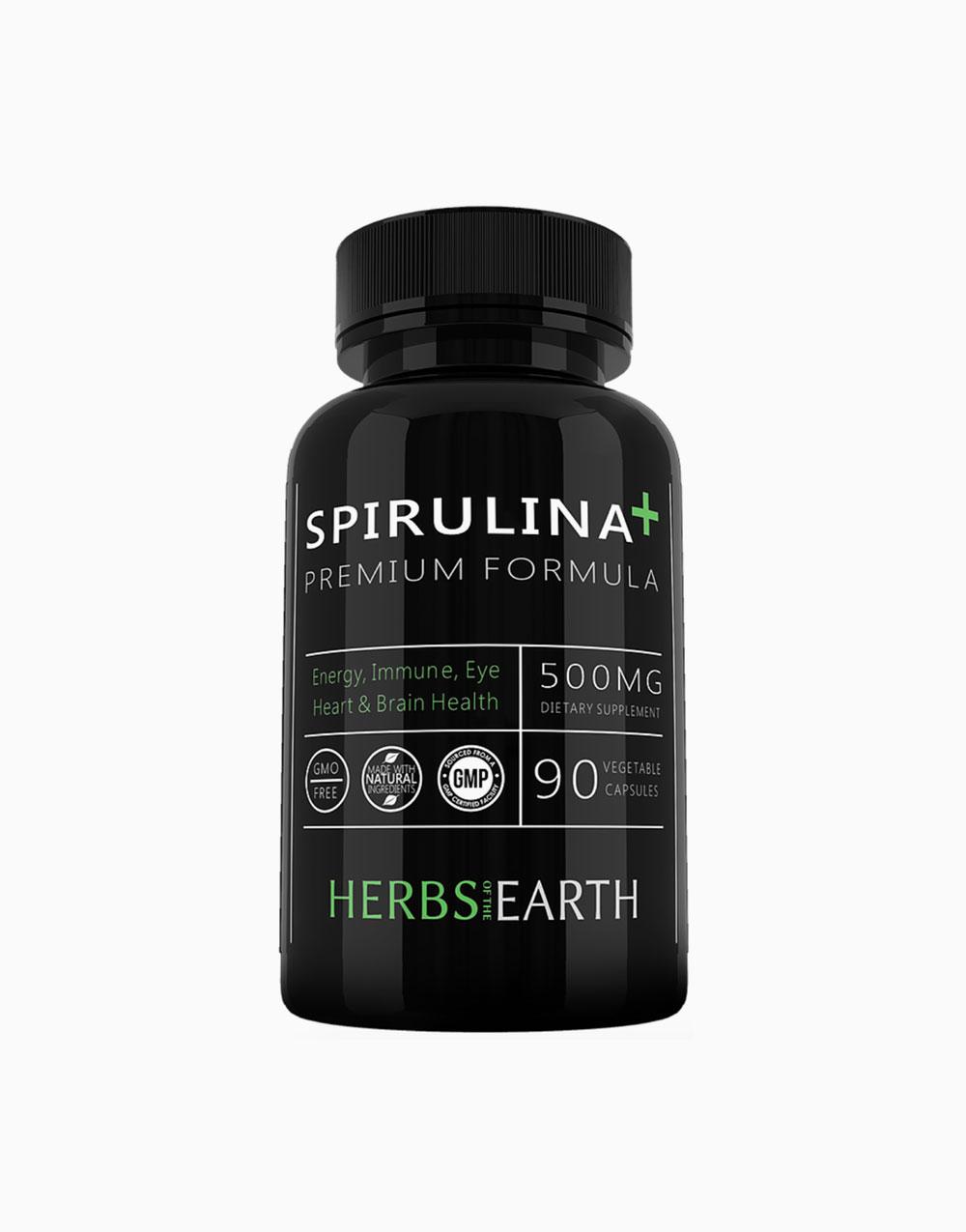 Spirulina + Premium Blue-Green Algae, 90 Vegetarian Capsules by Herbs of the Earth