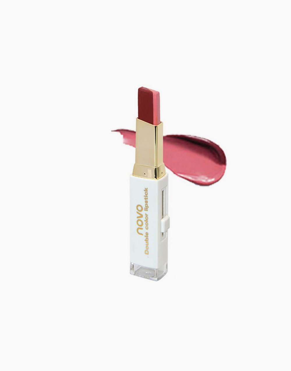Two Tone Lip Bar by Novo Cosmetics | #8 Deep Red / Pink