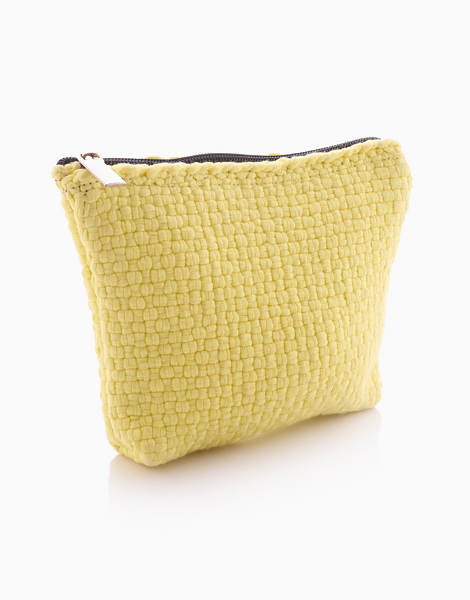 Cosmetic Pouch by Habi Lifestyle | Yellow