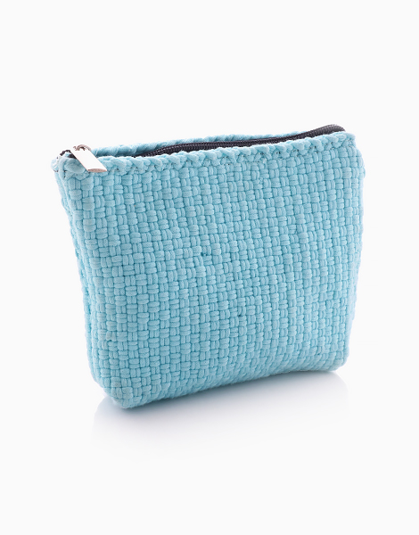 Cosmetic Pouch by Habi Lifestyle | Light Blue