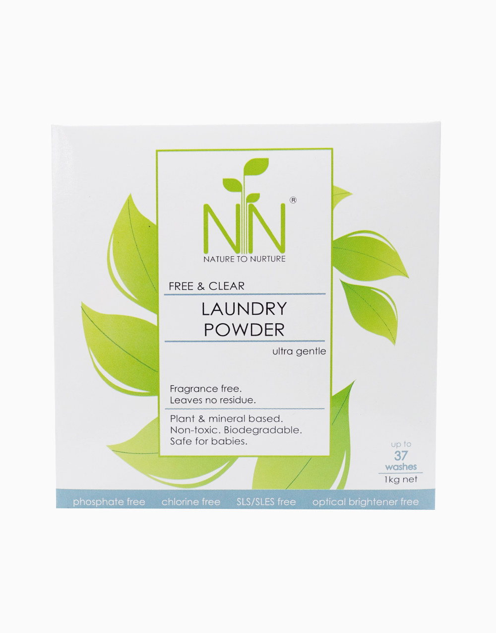Free & Clear Laundry Powder Ultra Gentle (1kg) by Nature to Nurture
