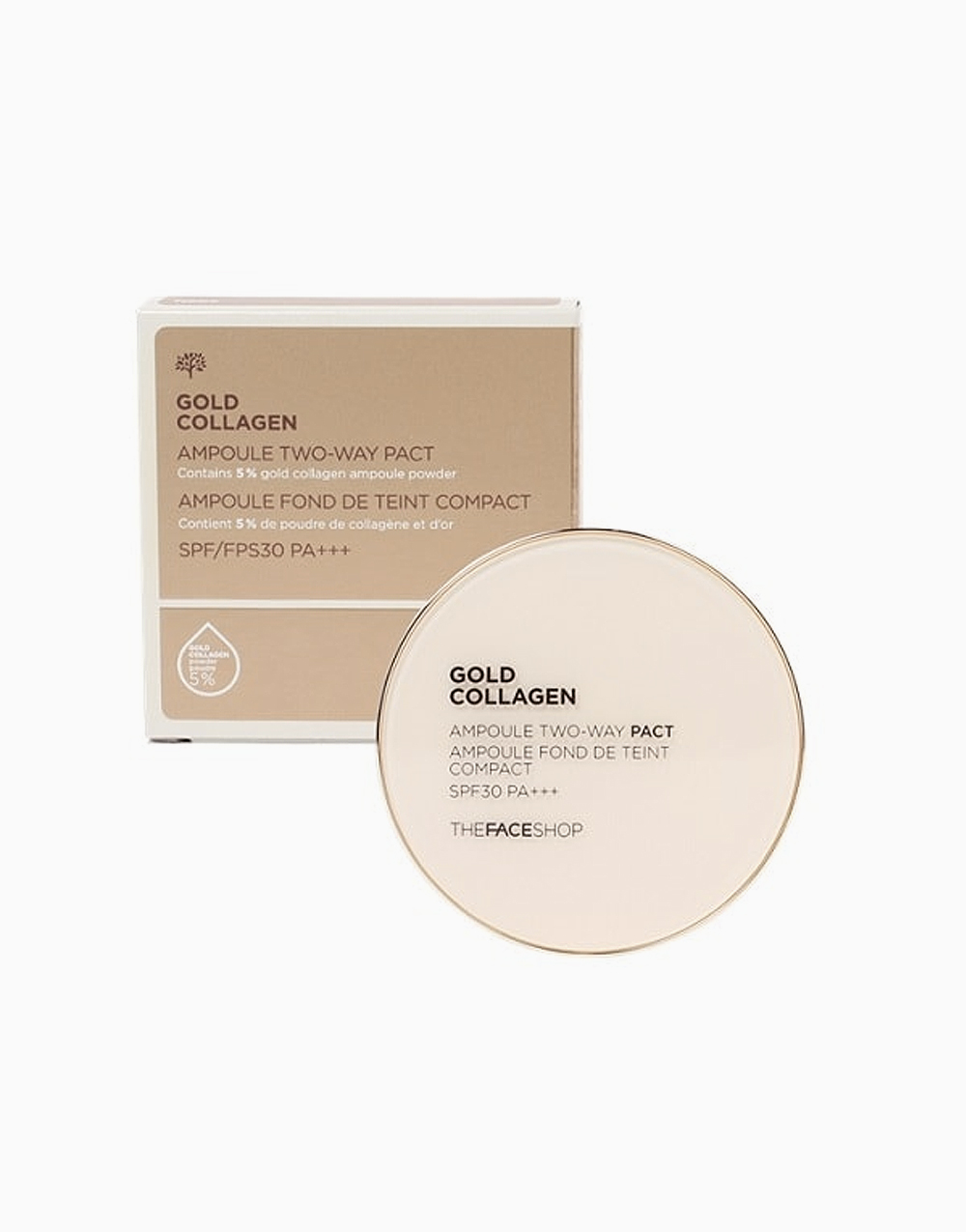 Gold Collagen Ampoule Two-Way Pact SPF30 PA+++ by The Face Shop | V201