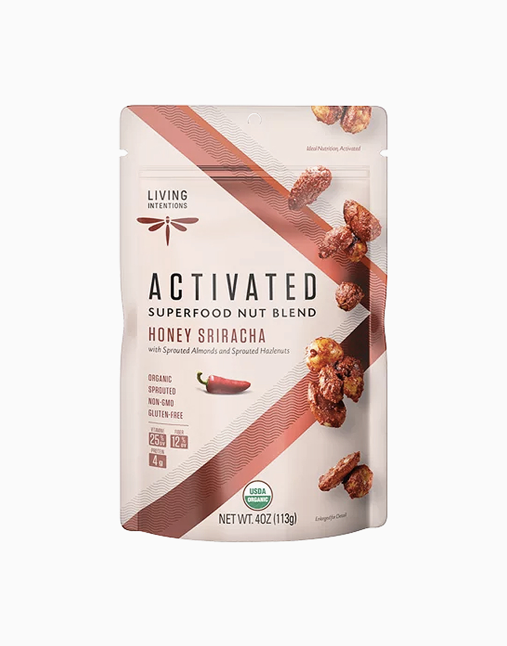 Honey Sriracha Activated Superfood Nut Blend by Living Intentions