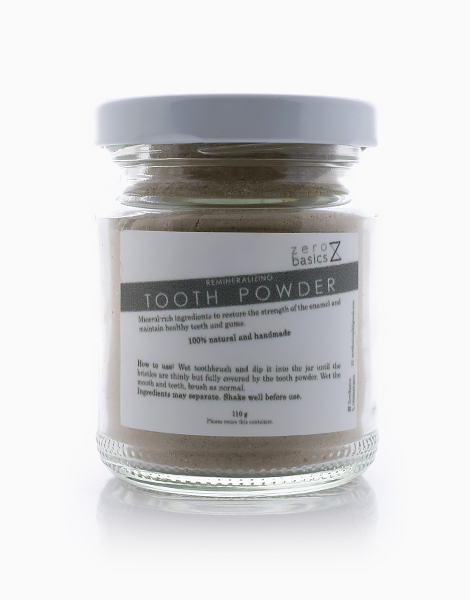 Remineralizing Toothpowder by Zero Basics