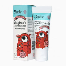 Buds organic children's toothpaste with xylitol strawberry flavor %281 3 yrs old%29