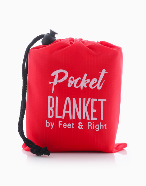Beach/Picnic Pocket Blanket by Feet and Right   Red