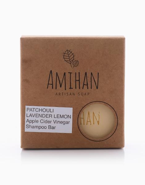 Lavender/Patchouli/Lemon Apple Cider Vinegar Shampoo Bar by Amihan Organics