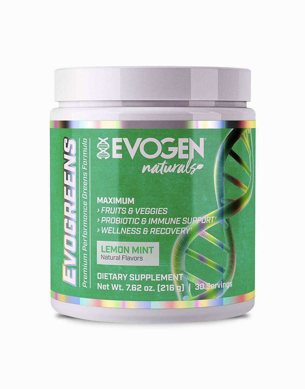 Nutrition Naturals Evogreens Lemon Mint Flavor (30 Servings) by Evogen