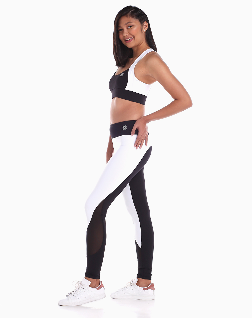 Audacia Bra in Black and White by Strength Activewear | Medium