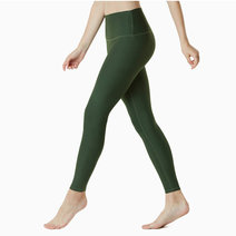 Yoga Pants High-Waist Tummy Control in Olive by Tesla