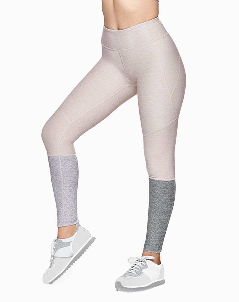 7/8 Dipped Legging in Oatmeal/Dove/Ash by Outdoor Voices | XL