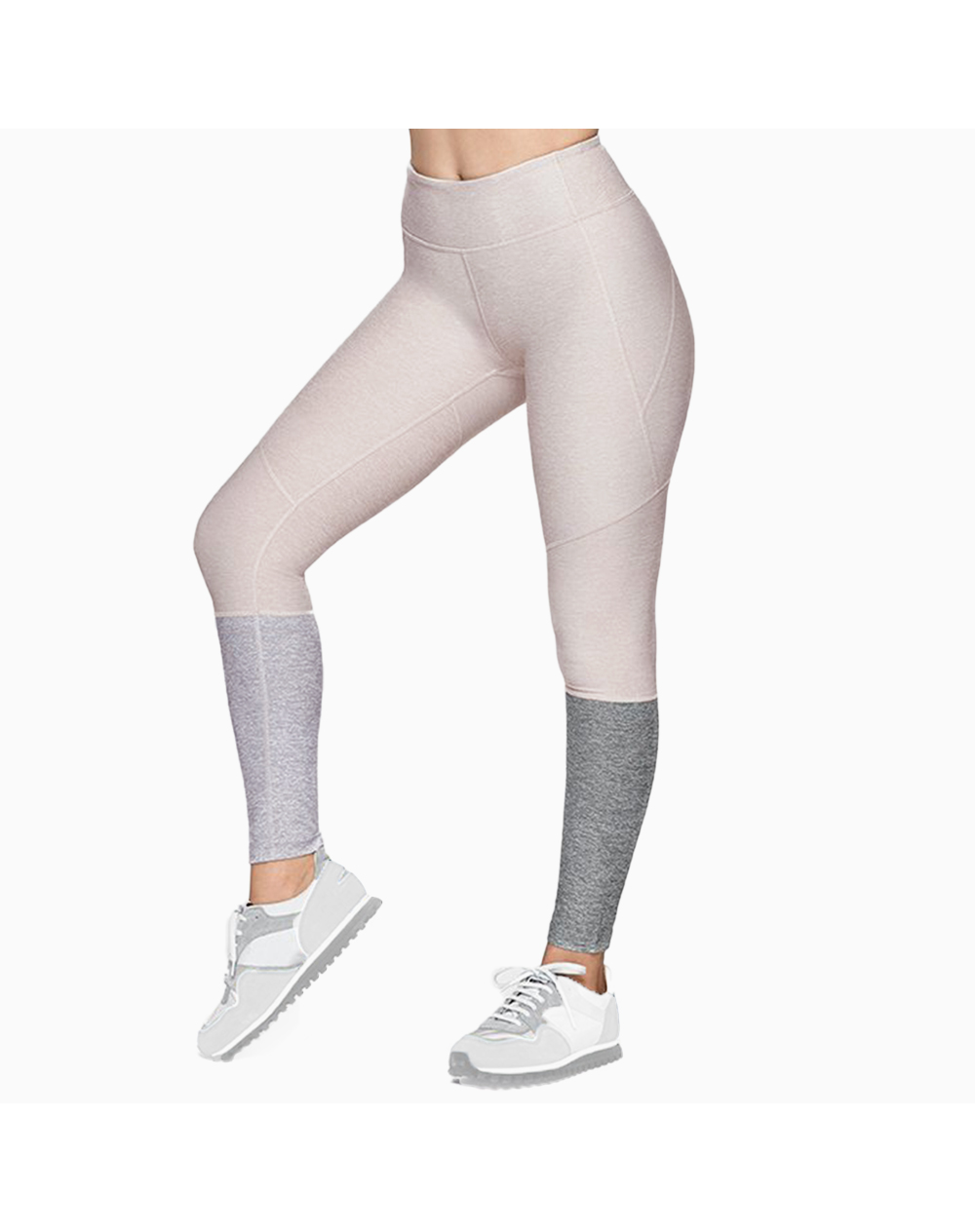 7/8 Dipped Legging in Oatmeal/Dove/Ash by Outdoor Voices |