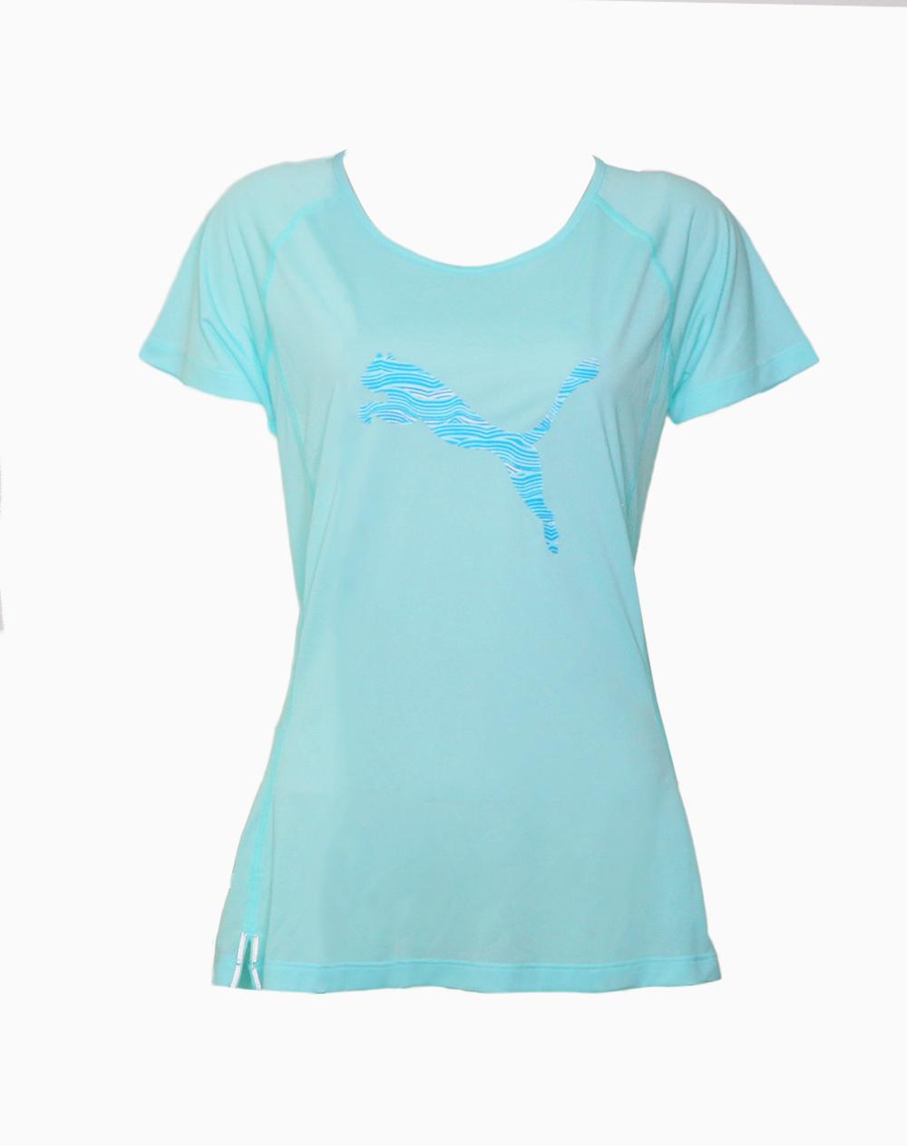 Women's Core Run Logo Tee in Island Paradise by Puma | XL