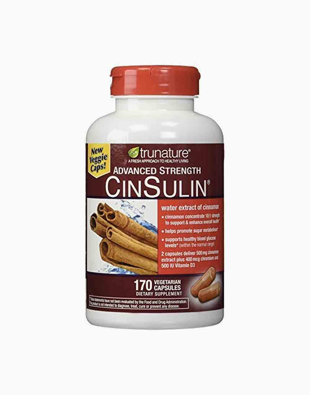 Advanced Strength CinSulin by Tru Nature Vitamins