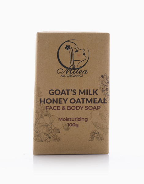 All Organics Goat's Milk Honey Oatmeal Soap (100g) by Milea