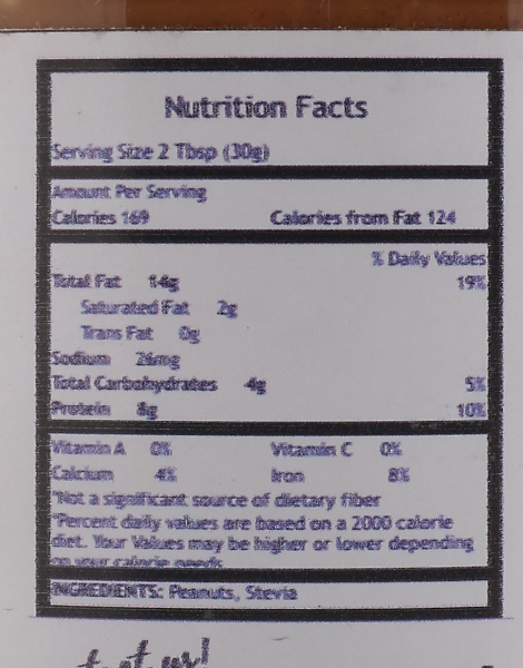 Regular Sugar-Free Crunchy Peanut Butter (500g) by The Fit Nut PH